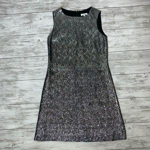 Shoshanna Silver Metallic Dress Size 2